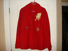 Philmont white Bull Boy Scouts America Red Wool offical Jacket Size Clean