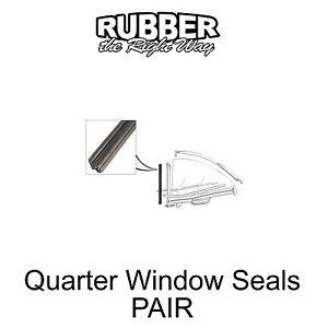 1957 1958 Ford Edsel Quarter Window Seals - PAIR