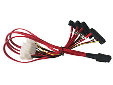 "20"" Mini SAS 36-Pin SFF-8087 Male to SFF-8482 29-Pin Female + 4-Pin Power Cable"