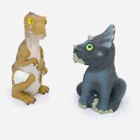 1997 Jurassic Park Lost World Baby T-Rex & Triceratops Hatchling JP56 JP57