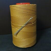 RITZA TIGRE WAXED HAND SEWING THREAD 0.6m FOR LEATHER/CANVAS & 2 NEEDLES TAN