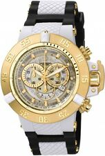 INVICTA 0928 - Subaqua Men 50mm Stainless Steel + Plastic White + Gold White dia