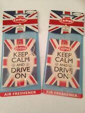2 x CARPLAN Keep Calm and Drive su AUTO PROFUMATORI AMBIENTE CASA, Furgone,