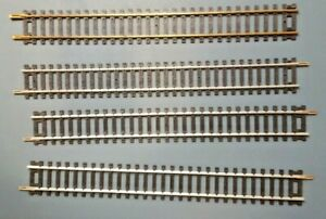 Vintage 9 Inch Straight Track 1-Brass 3-Nickel HO Scale LOT 4 Used VERY RARE