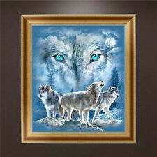 DIY 5D Diamond Embroidery Wolf Painting Cross Stitch Craft Home Decor