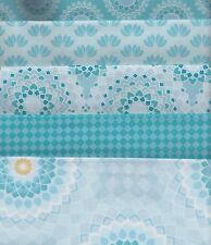 CLEARANCE - Lotus Blue Half Metre Bundle - 100% cotton - 5 pieces 50 x 110cm