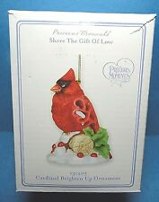 "Precious Moments  ""Cardinal Brighten Up"" Ornament Dated 2012 No.131405"