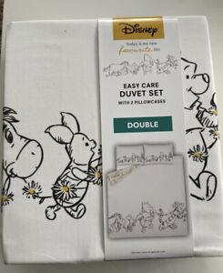 Disney Winnie The Pooh & Friends Reversable Double Duvet Set New