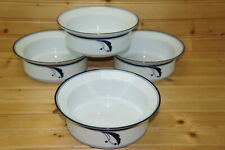 """Dansk Flora Bayberry Blue (4) Cereal or Fruit Bowls, 6 3/4"""""""