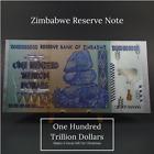 Zimbabwe 100 Hundred Trillion Dollars Beautiful Souvenir Silver & Gold Banknote
