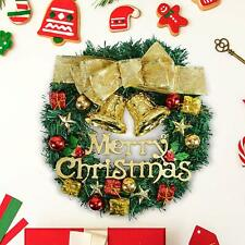 Merry Christmas Wreath 30cm Artificial Garland Door Fireplace Wall Decoration