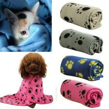 Pet Paw Printed Winter Blanket Warm Bed Mat Cover Soft Fleece For Cat Dog