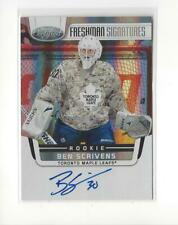2011-12 Certified #174 Ben Scrivens RC Rookie AUTOGRAPH Maple Leafs