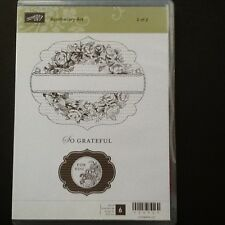 "Stampin Up Retired """"  Apothecary Art """"  2 Part Clear Mount Stamp Set"