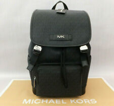 Michael Kors Mens Cooper Perforated Leather Backpack BNWT RRP £390 Black