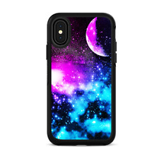 Skins for iPhone X Otterbox Defender Stickers - Galaxy Fluorescent