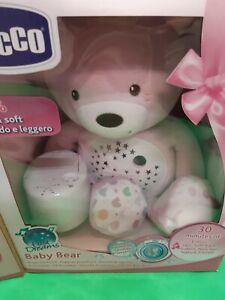 Lichtbär Kuscheltier mit Projektor Gute Nachtlicht Bär mit Licht rosa Chicco neu