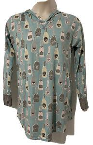 Munki Munki Nite Nite Womens Nightgown Sleep Shirt Blue Grey Champagne PJ Medium
