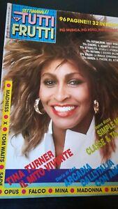 TuttiFrutti 36 1985 Tina Turner Sade Falco Simon Le Bon Nina Hagen Pravo Bertè