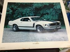 Mustang Boss 302 TIN SIGN vtg ford muscle car ad garage decor metal poster #1241