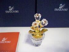 SWAROVSKI FLOWER POT FLOWER 208885 RETIRED NIB COA