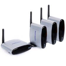 B20 2.4G Wireless AV Transmitter System 3x Empfänger Funk HD TV IR Extender 150m