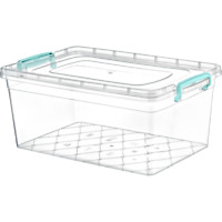 Plastic Storage Box Clear Containers With Lid 5.5L 10L 15L 20L 30L Stackable