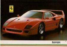 Ferrari 1987-89 UK Market Brochure 328 GTB GTS Mondial 3.2 412 Testarossa F40