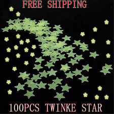 Lots 100pcs Glow In The Dark Star Stickers Baby Kids Room Nursery Wall Decal au