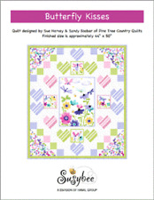 Colorful Flutter the Butterfly Quilt top kit 44x50 by SusyBee
