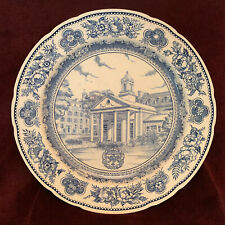 Wedgwood Yale 1949 Plate 'Timothy Dwight College' Blue & White