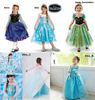 Princess Anna Frozen Disney Elsa Dressup Costume Dress Ball Gown Toddler Child