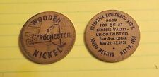 1958 ROCHESTER NUMISMATIC ASSOC 1000TH MEETING WOODEN NICKEL SET