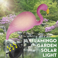 Solar Flamingo LED Light Waterproof Outdoor Yard Lawn Garden Walkway Lamp
