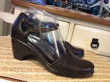 Womens DANSKO Brown Mary Jane Clogs Shoes Heels sz 38 / 7.5 / 8 US- Portugal