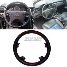 Black Leather Wood Steering Wheel Cover 00-02 Mercedes W210 97-02 C208/W208 CLK