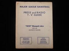1957-58 Minneapolis Lakers Basketball Press Guide