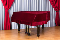 Clairevoire Grandeur: Premium Velvet Grand Piano Cover 5ft [Classic Wine]