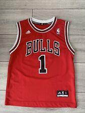 02 Adidas Men's NBA Bulls Sports Vest (No.1 Rose) Size Uk M