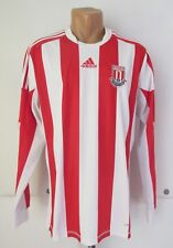 Stoke City 2012/2013 Home Player Issue Shirt Soccer Jersey Long Sleeve Adidas L