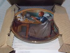 """Edwin M. Knowles China Co. """"Working In The Kitchen"""" Collector Plate w/ COA"""