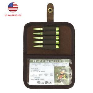 Tourbon Rifle Ammo Pouch Purse Card Wallet License Holder Gun Bullet Storage US