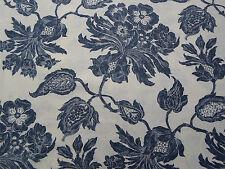 Thibaut Curtain Fabric 'Helena' 2.8 METRES (280cm) Navy - 100% Linen - Richmond