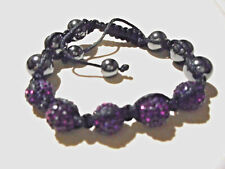 2 Shamballa disco ball bracelets to choose from ; Purple or pink. No metal..