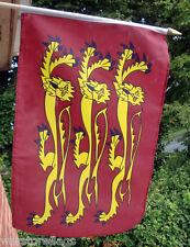 "RICHARD THE LIONHEART set of 10 HAND WAVING FLAGS 18"" X 12"" ENGLAND ENGLISH KING"
