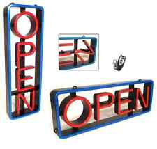 """Lighted Led """"Open"""" Sign Rectangular with Swivel Letters - Vertical or Horizontal"""