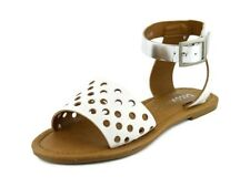 Coconuts by Matisse All About White Perforated Leather Sandals Size 7 New W/ Box
