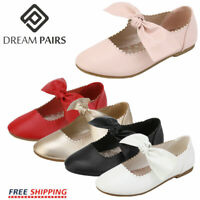 DREAM PAIRS Girls Kid Slip On Flats Dress Shoes Strap Mary Jane Shoes Flat Shoes