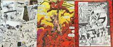 THREE ComicLink Original Comic Art Auction Catalogs Jack Kirby Jim Lee BWS Adams