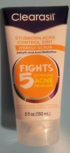 Clearasil Stubborn Acne Control 5 In1 Weekly Scrub 5 Oz/150ml 06/21